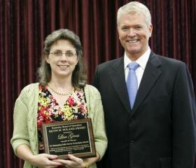 Lisa Gross earned the 2012 Kevin M. Noland Award recognizing significant service to Kentucky's public schools and for providing inspiration for education.