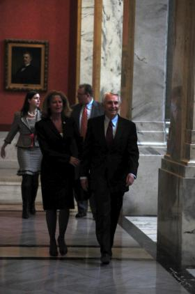 Beshear at the Capitol.