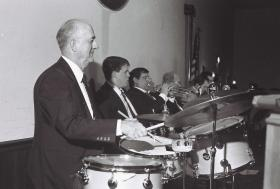 Chuck Simons playing with the Todd Hill Orchestra, circa 1990