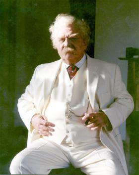 John Chappell as Mark Twain