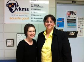 Membership Coordinator Jenni Todd (left) with Dr. Sharon Gill (right)