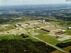 Aerial photo of the Paducah Gaseous Diffusion Plant site