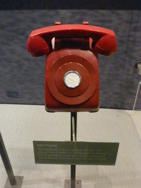 Even though this is on display at the Jimmy Carter Library and Museum it is not, in fact, the red phone.