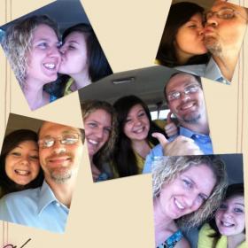 Miranda McGlone with her adopted parents Robert McGlone and Amanda Park.
