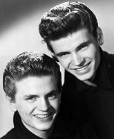 Don (right) and Phil (left) Everly in a 1958 promotional photo.