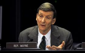 Rep. Jim Wayne, D-Louisville, discusses a bill up for consideration in the House Appropriations and Revenue Committee.