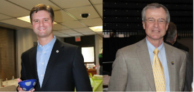Will Coursey-Incumbent Democrat (Left) Keith Travis-Republican Challenger (Right)