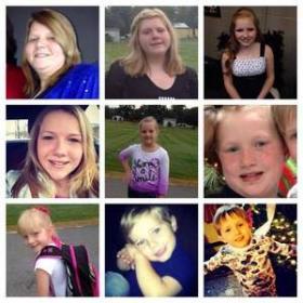 Left to right: LaRae Watson, 35, Madison Watson, 15, Kaitlyn Watson, 14, Morgan Watson, 13, Emily Watson, 9, Samuel Watson, 8, Raegan Watson, 7 and 4-year-old twins Mark and Nathaniel Watson
