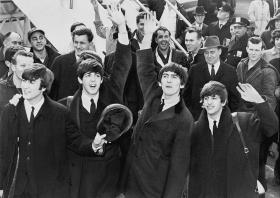 The Beatles arrive at JFK Airport