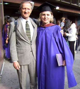 Dr. Michael Kalinski and his daughter Lesya Kalinski.