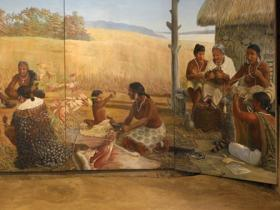 Lifeways Mural at Wickliffe Mounds
