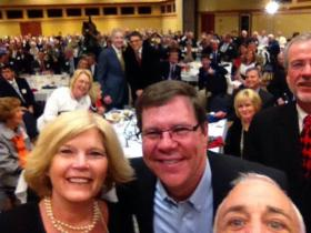 Calloway GOP chair Greg DeLancey's selfie at Saturday's event.
