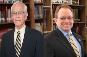 MSU's 12th President Tim Miller (Left) MSU's 13th President Bob Davies (Right)