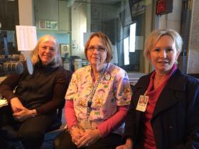 From left to right: Kate Lochte, Jimmie Sue Mathis, Rhonda Boone