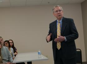 Sen. Mitch McConnell speaks Tuesday at Murray State.