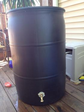 Do you have a rain barrel in your backyard?