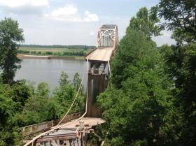 The Old Ledbetter Bridge after a partial collapse June 22.