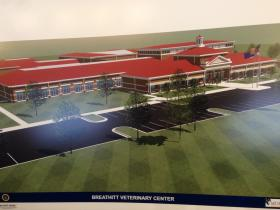 A rendering of the new BVC building.