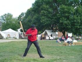 "Dennis ""Bose"" Biddle at bat in 2008"
