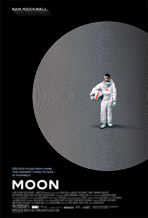 """Moon\"" film poster, starring Sam Rockwell"