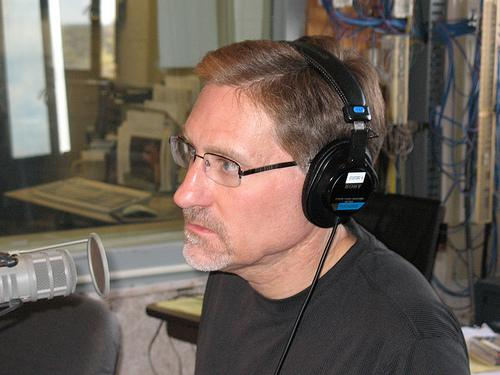 Dr.Randy Dunn speaking in the WKMS studios