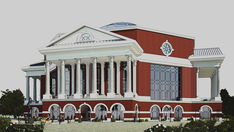 Concept art for Murray State's new library.