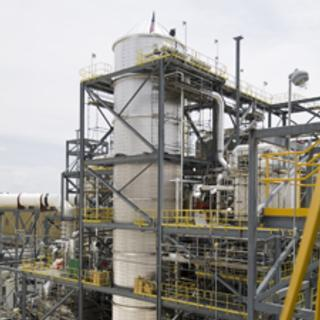 The carbon capture unit at the Mountaineer plant.