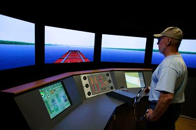 Paducah's River Discovery Center's Pilothouse Simulator