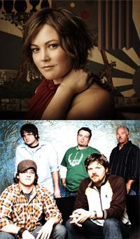 Sara Watkins and Cadillac Sky at two different venues in Western Kentucky, Friday, March 5