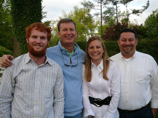 Pictured left to right: Chris Cappock, Mike Cappock, WKMS Underwriting Representative Anne Bidwell, and Project Aids Orphan President Paul Bilak