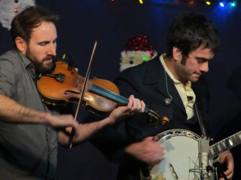 Pikelny (right) performs alongside bandmember and producer Gabe Witcher at The Station Inn.