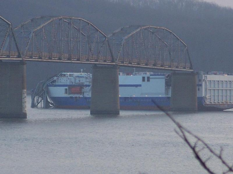 Delta Mariner's collision with the Eggner's Ferry Bridge last month.