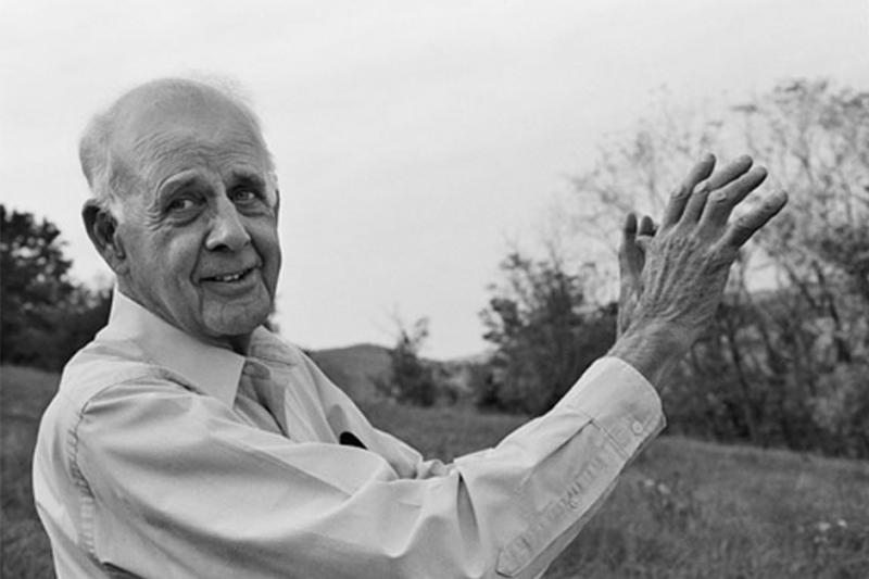 Wendell Berry in Henry County, Kentucky in 2003.