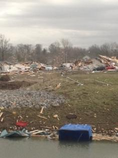 Area destroyed by tornado in downtown Harrisburg