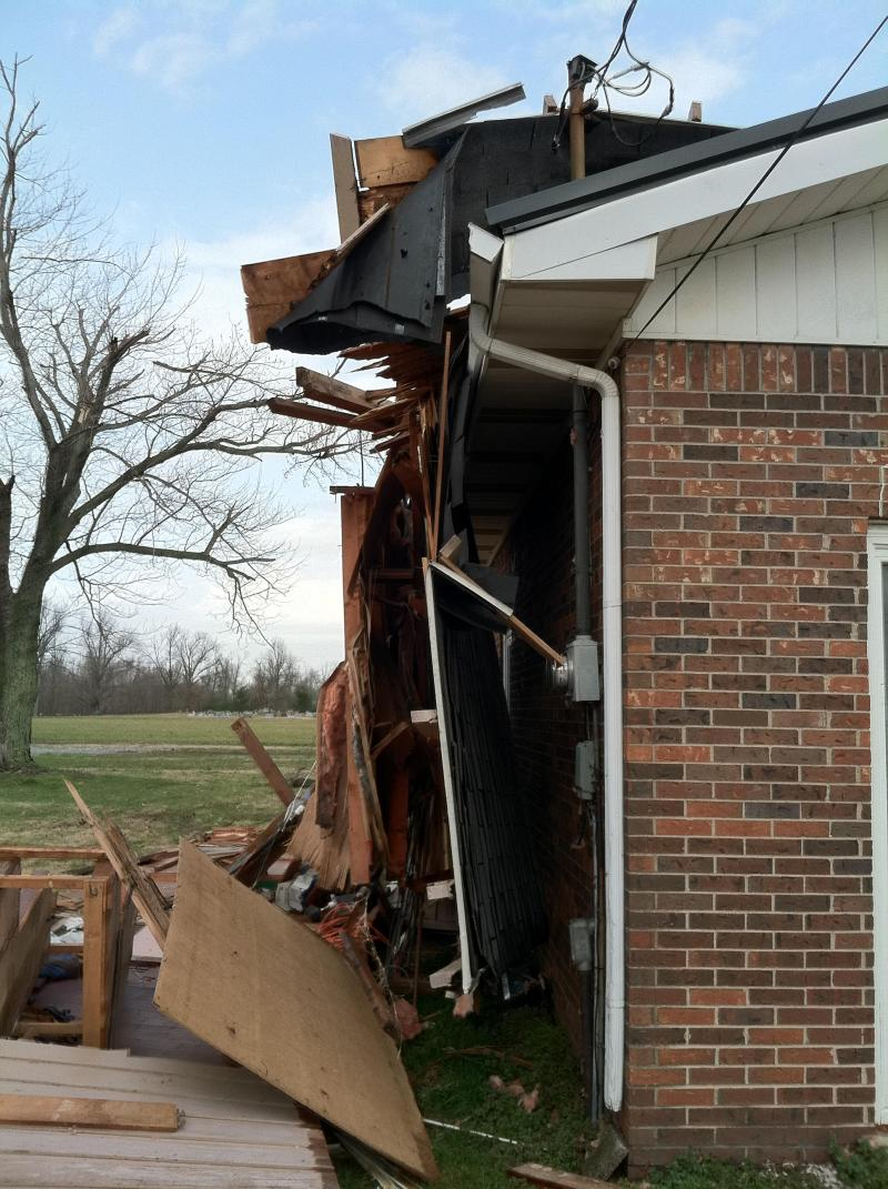 Damaged Home in Ballard County