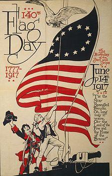 140th US Flag Day poster