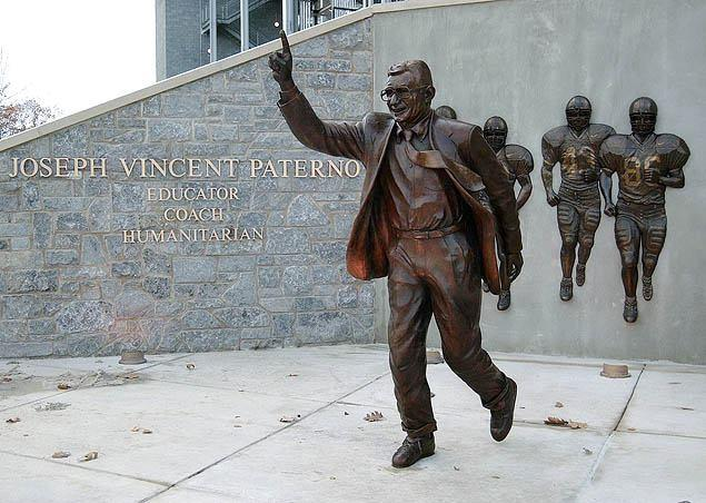 """Were they to create a Mount Rushmore of college football coaches, [Paterno's] would be the first face that you would chisel into the mountain."""