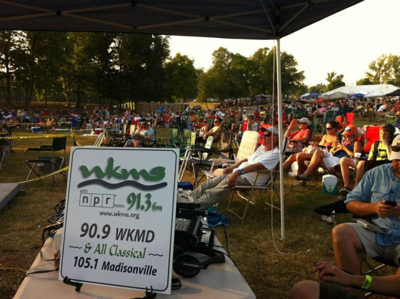 The WKMS Booth at ROMP!