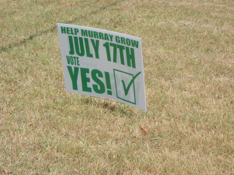 "Murrayans voted ""yes"" in Tuesday's special election."