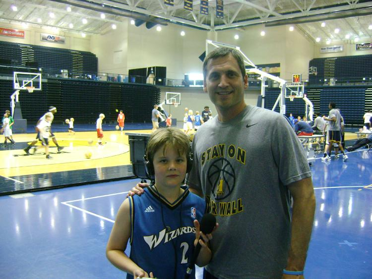Patrick with MSU Racers Coach Steve Prohm