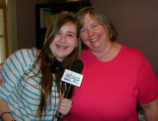Youth Reporter Brynn Jones with Playhouse in the Park Director Lisa Cope