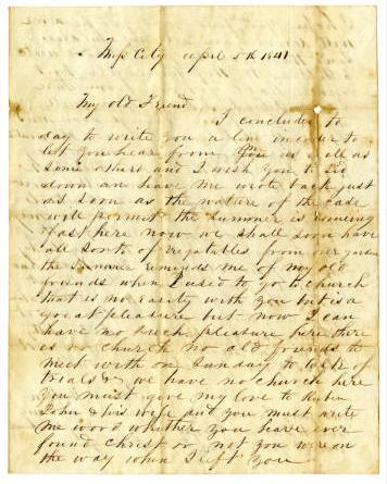 Pictured is one of the letters written by Isabel Watson to Violet Ware, of Hopkinsville.