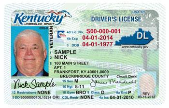 New Kentucky driver's license