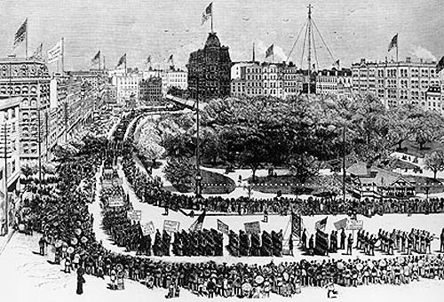 Labor Day parade in NYC in 1882