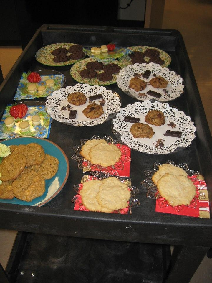 Yummy Finalist Cookies on their way to the WKMS Sounds Good Cookie Judging Panel