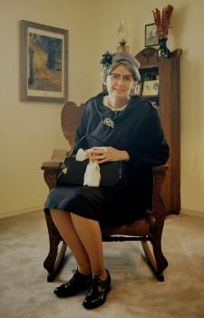 Evelyn Hinds portraying Corrie ten Boom