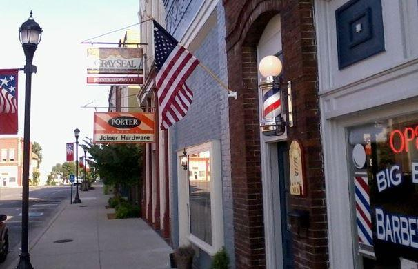 Big Boy's Barber Shop in downtown Princeton