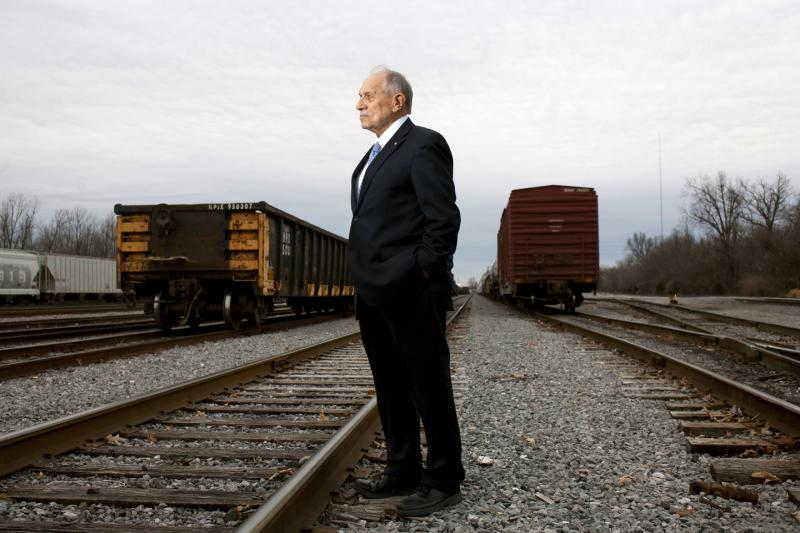 Former prosecutor, FBI Agent, and Paducah mayor Albert Jones at the site of Illinois Central Special Agent Richard Kelley's murder, the former South IC Yard in Paducah.