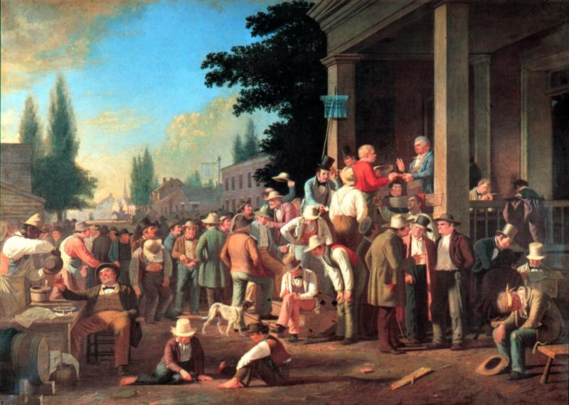 """The County Election,"" George Caleb Bingham"