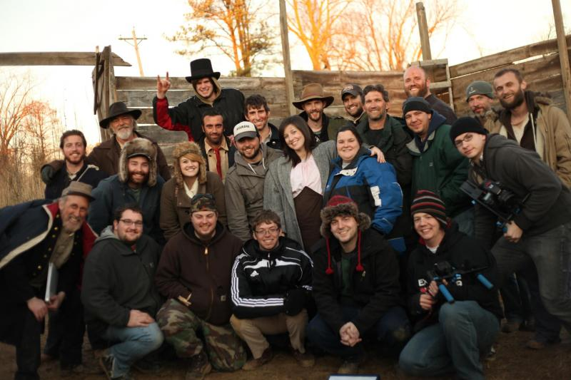 Cast and Crew at Fort Hein, Round Knob, IL